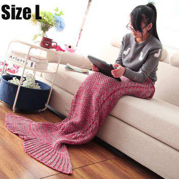 Crocheted / Knited Mermaid Tail Style Blanket - RED - ADULT RED ADULT