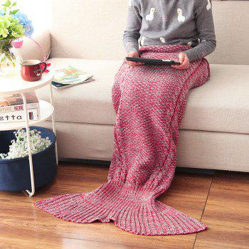 Crocheted / Knited Mermaid Tail Style Blanket - RED ADULT