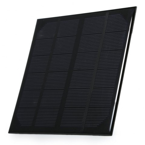 3W 5V USB Output Monocrystalline Silicon Solar Panel Charger 145 x 145mm - BLACK
