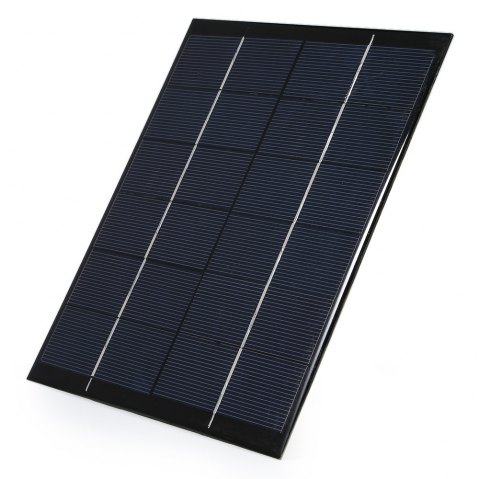 5W 6V Polycrystalline Silicon Solar Panel Charger - BLACK