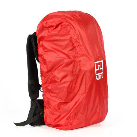 AOTU AT6926 40 - 90L Water Resistant Rain Cover Backpack for Outdoor Climbing - RED