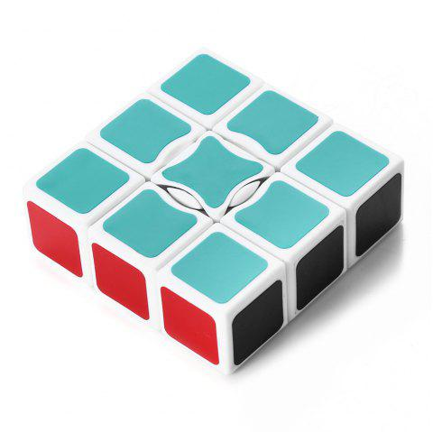 X-cube YT0051 133 Magic IQ Cube Speed Puzzle Game with White Base - WHITE