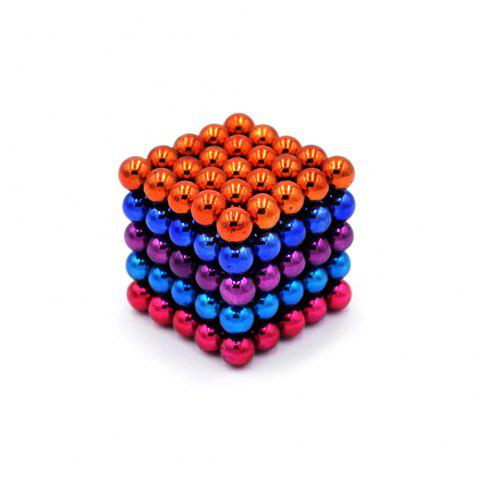 DECAKER 5mm 125Pcs NdFeB Magnetic Bead Novelty Educational Toy for Children - COLORFUL STYLE 1