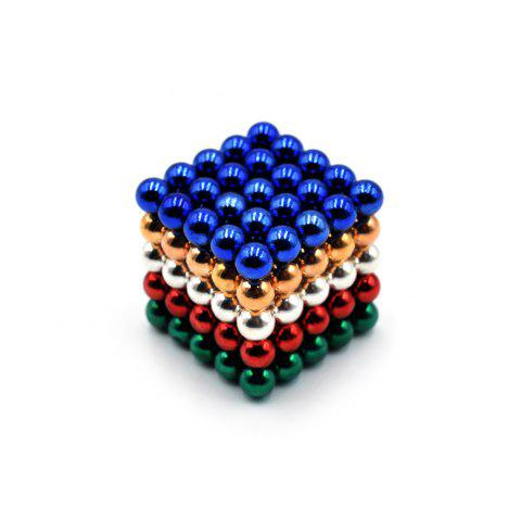 DECAKER 5mm 125Pcs NdFeB Magnetic Bead Novelty Educational Toy for Children - COLORFUL STYLE 3