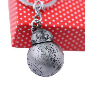 BB - 8 Portable Robot Shape Key Chain Zinc Alloy Pendant for Bag Decoration - GRAY GRAY