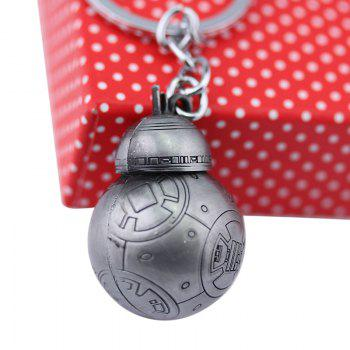 BB - 8 Portable Robot Shape Key Chain Zinc Alloy Pendant for Bag Decoration -  GRAY