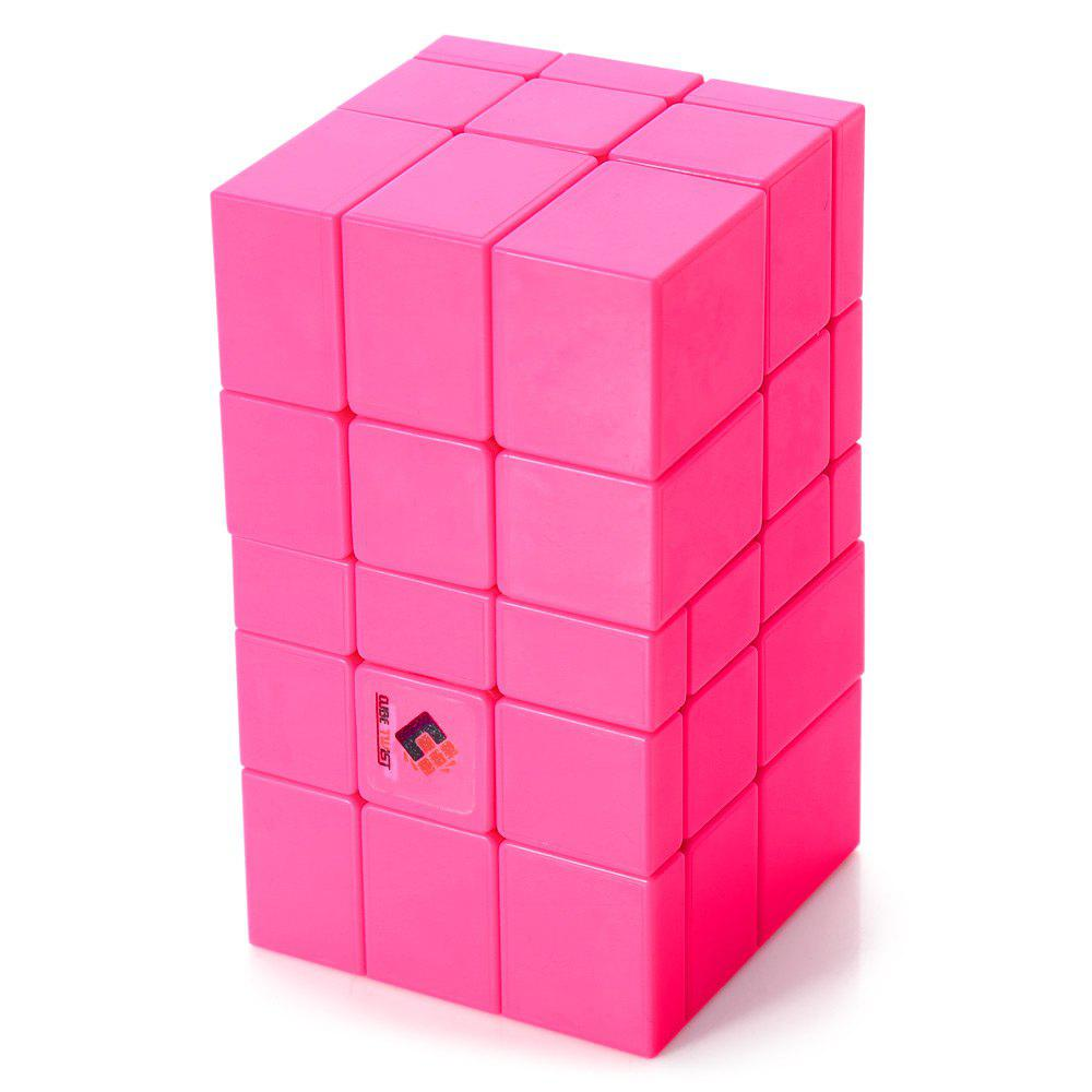 TSLT0048 Pink Magic Cube Irregular Speed Puzzle Brain Teaser Toy high quality speedy 4x4x4 brain teaser rotating magic puzzle cube with display base