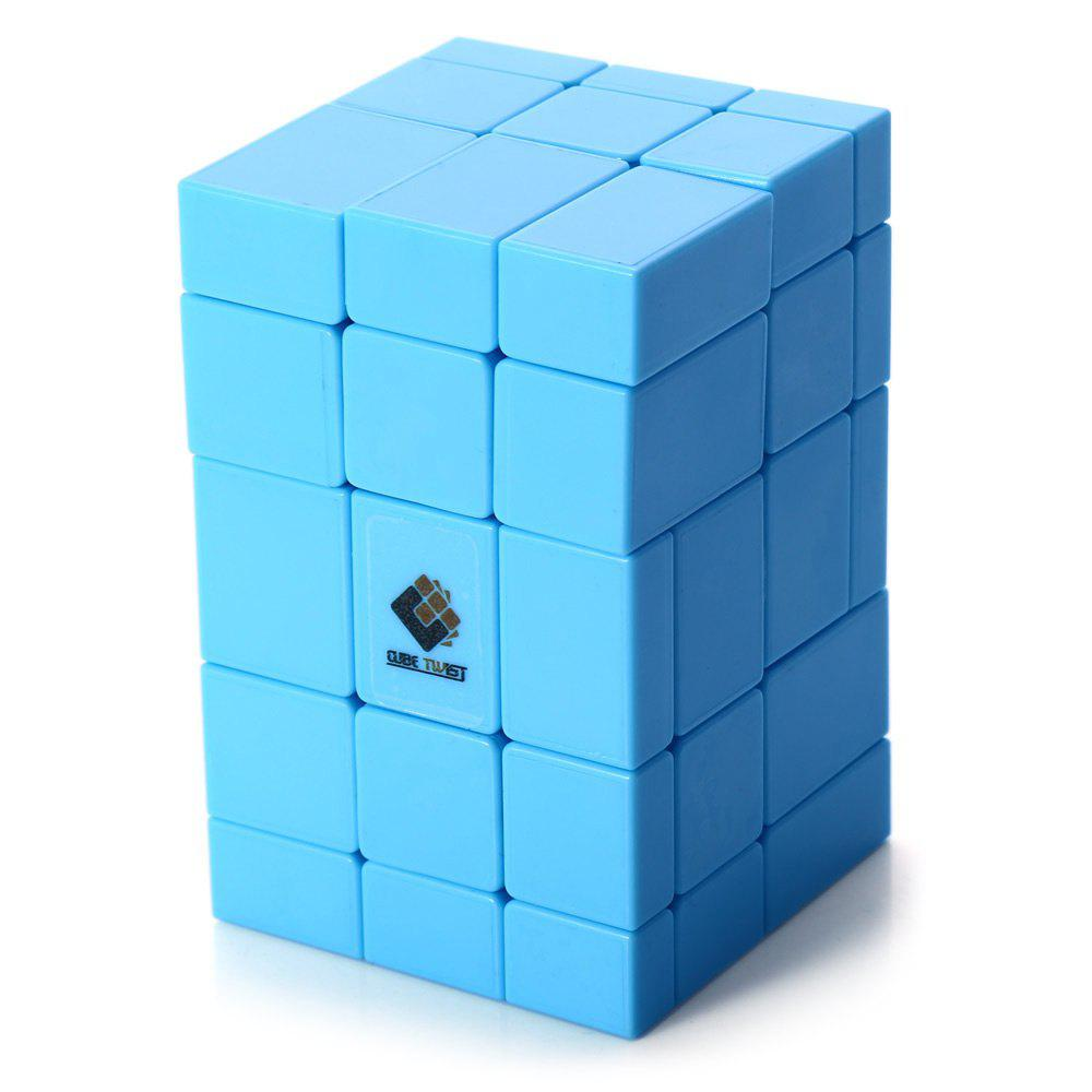 TSLT0049 Siamese Magic Cube Irregular Blue Mirror Puzzle Game Toy dayan gem vi cube speed puzzle magic cubes educational game toys gift for children kids grownups