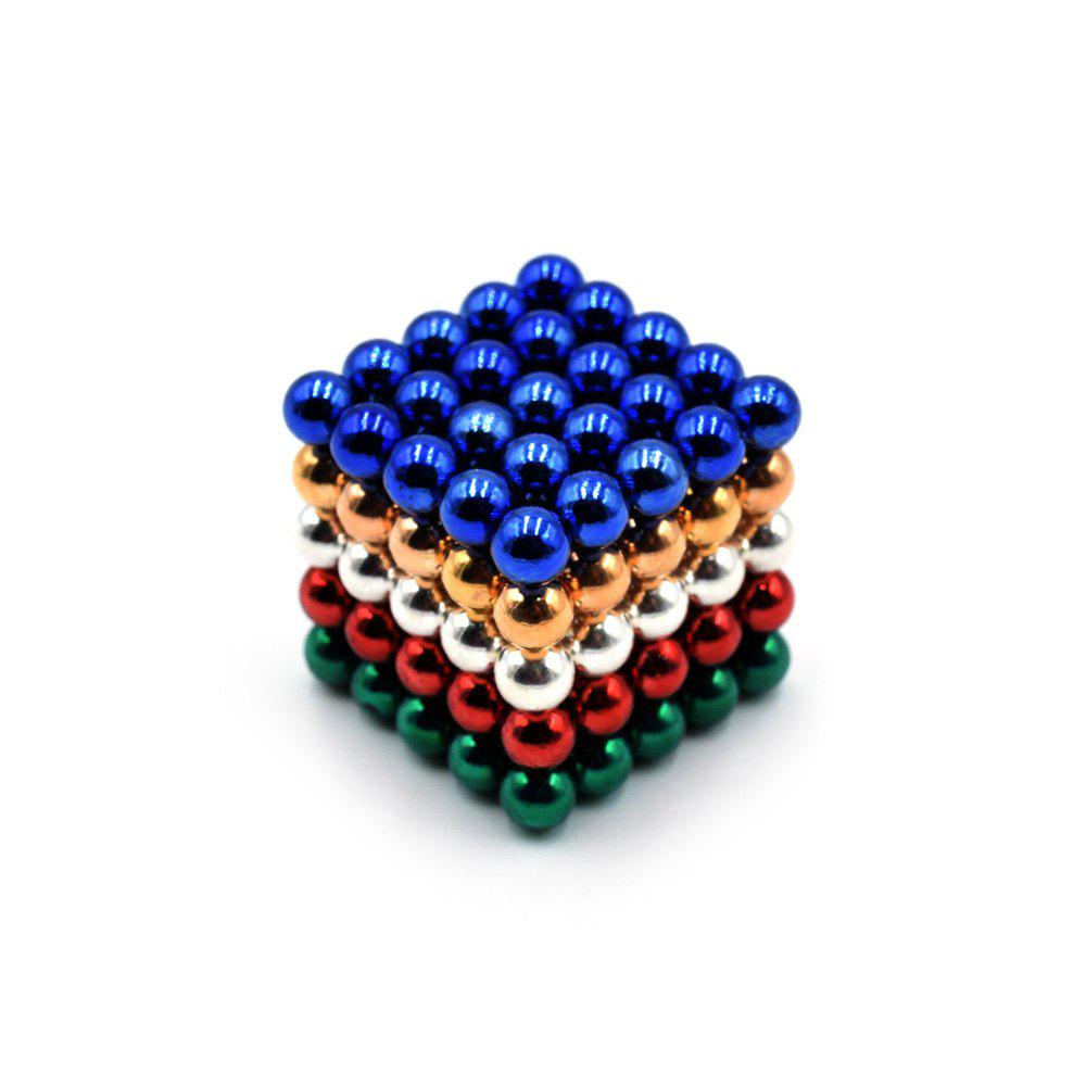 DECAKER 5mm 125Pcs NdFeB Magnetic Bead Novelty Educational Toy for Children new style 432pcs mini 3mm diameter magnetic ball sphere neodymium puzzle ndfeb novelty toy for kids children