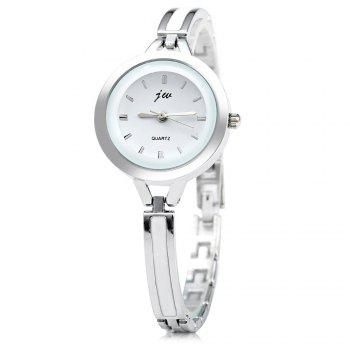 JW 3388 Nail Scale Circular Dial Female Quartz Watch Alloy Band