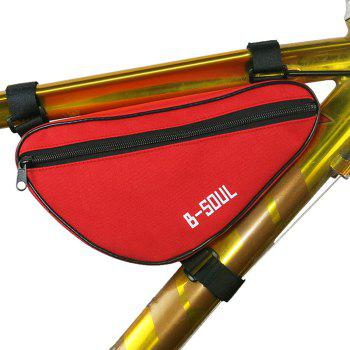 Buy B-SOUL 1.5L Bicycle Front Tube Triangle Bag Outdoor Cycling Accessories RED