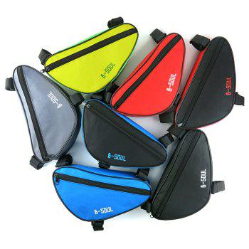 B-SOUL 1.5L Bicycle Front Tube Triangle Bag Outdoor Cycling Accessories - BLUE/BLACK