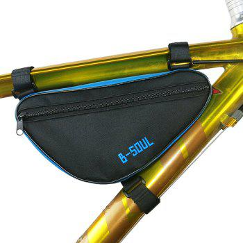 Cycling Bike Bicycle Frame Pannier Front Tube Pouch Bag Mobile Phone Holder Blue