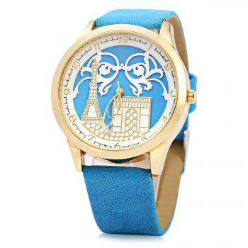 S555 Soft Leather Band Female Quartz Watch