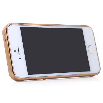 Diamond Style Protective Back Cover Case for iPhone 5 / 5S / SE Ultra-thin TPU Electroplated Edge Design Mobile Protector -  GOLDEN