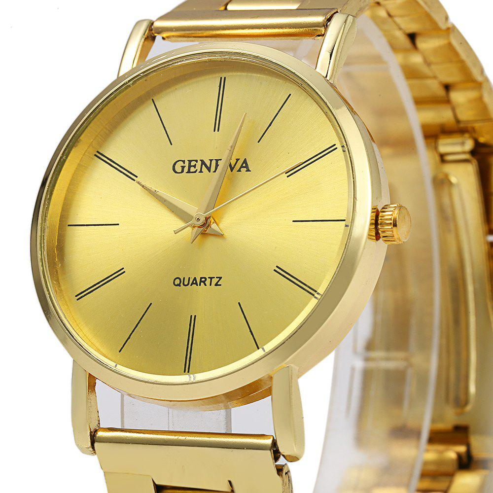GENEVA 002 Business Style Male Quartz Watch with Golden Dial - GOLDEN