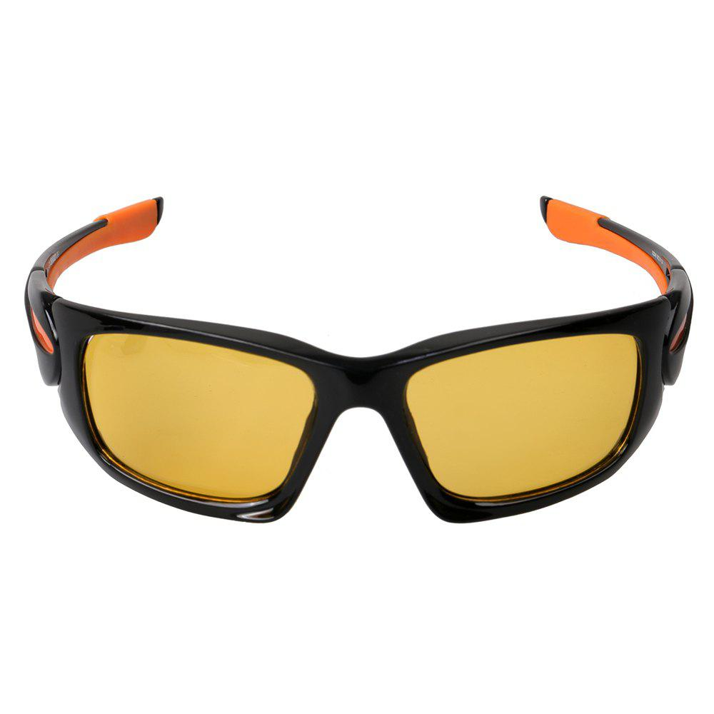 KASHILUO XQ049 Polarizing UV Resistant Night Vision Cycling GlassesHome<br><br><br>Color: YELLOW AND BLACK