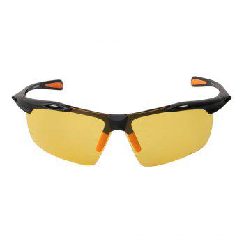 KASHILUO 9150-Y Night Vision Polarizing Cycling Glasses - DEEP YELLOW DEEP YELLOW