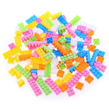 144pcs Kids Multicolor Plastic Creative DIY Educational Building Blocks Puzzle Game Toy