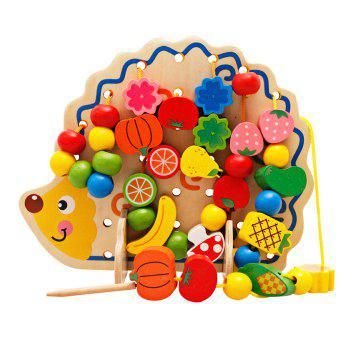 Buy Hedgehog Fruit Stringing Bead Stackable Building Block Educational Toy Children COLORMIX