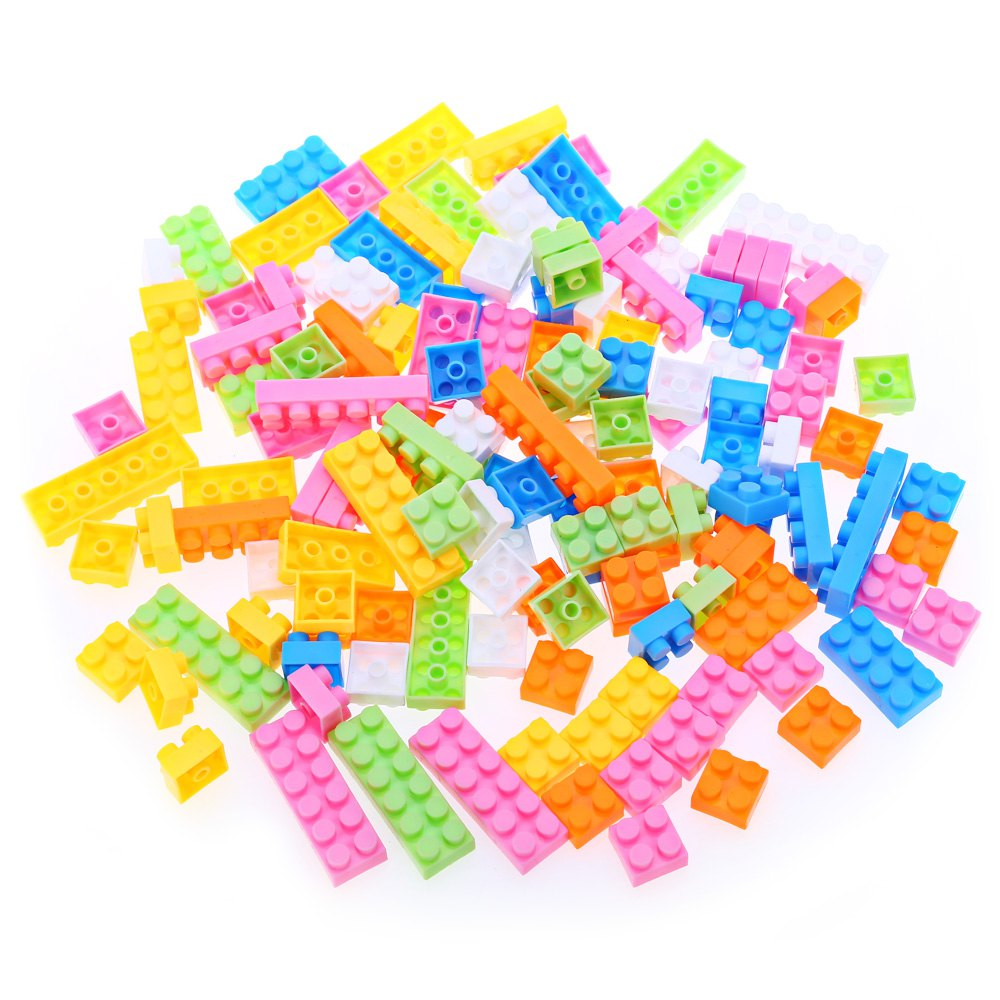 144pcs Kids Multicolor Plastic Creative DIY Educational Building Blocks Puzzle Game Toy - COLORMIX