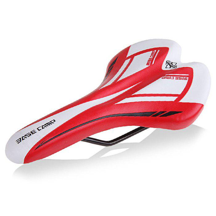 BASECAMP BC-654 Bike Saddle Soft Bicycle Supplies - RED/WHITE