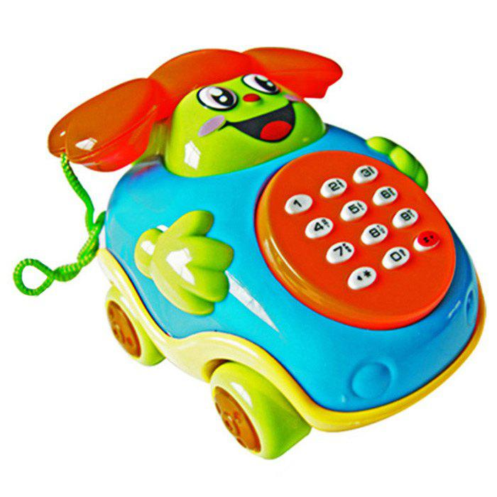 Musical Cartoon Infant Téléphone Car Intelligence jouet éducatif - multicolore