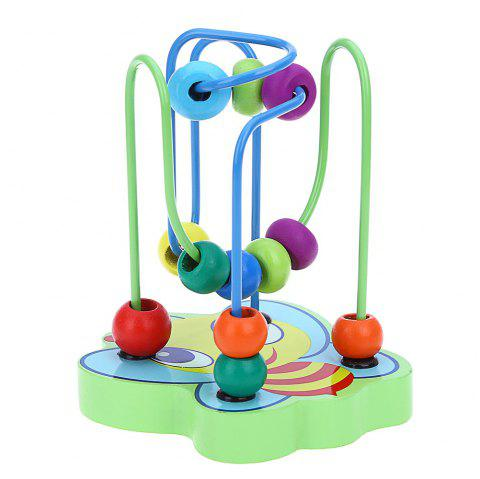Colorful Wooden Mini Around Beads Educational Game Toy - COLORMIX