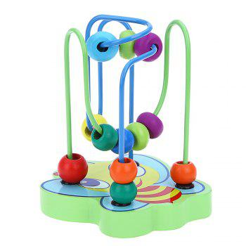Colorful Wooden Mini Around Beads Educational Game Toy