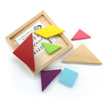 Maikou MK518 Educational Wooden Tangram Puzzle Toy for Children / Kid -  COLORMIX