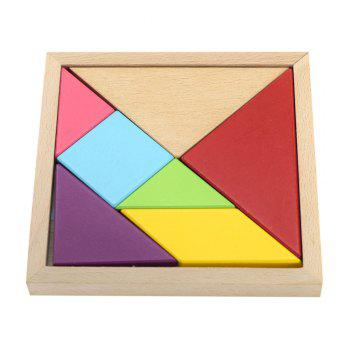 Maikou MK518 Educational Wooden Tangram Puzzle Toy for Children / Kid - COLORMIX COLORMIX