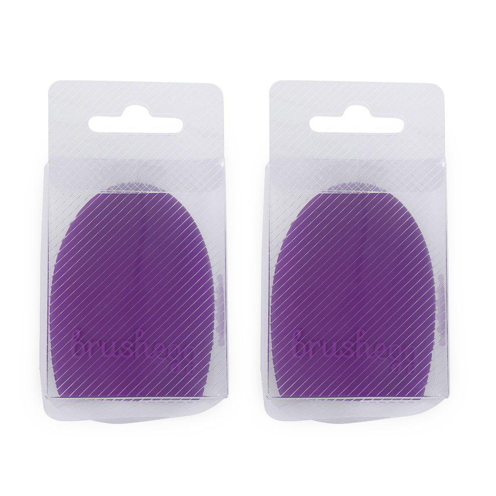 2pcs Makeup Brush Cleaner Finger Silicone Glove Cleaning Tool - DEEP PURPLE