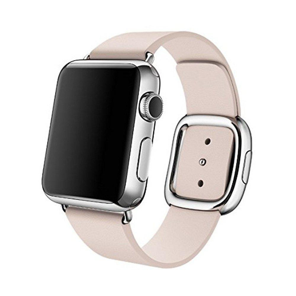 Modern Buckle Smooth Leather Strap Magnetic Closure Watchband for Apple Watch 42mmHome<br><br><br>Color: PINK