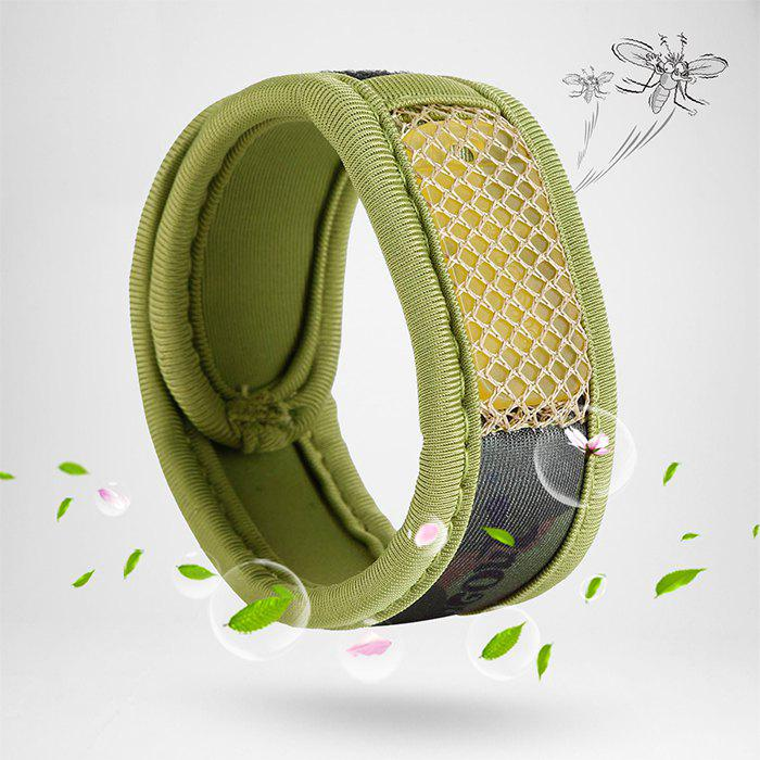 Bugout Mosquito Repellent Wristband Bracelet Fragrance naturel - Vert