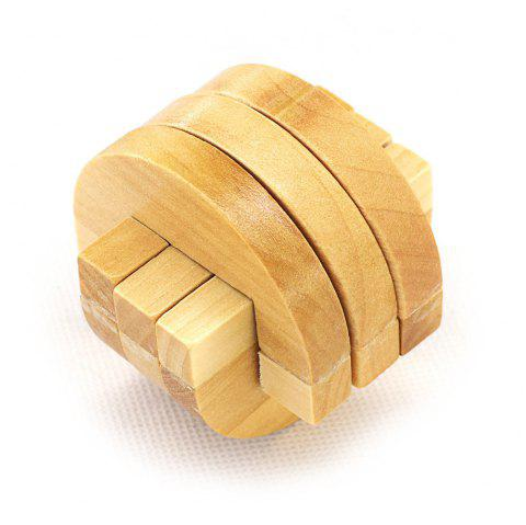 Maikou MK501 Puzzle Educational Wooden Interlock Toy Birthday Gift - YELLOW