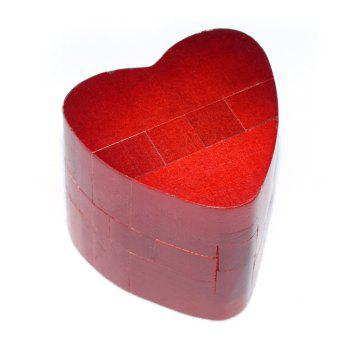 Maikou MK511 Heart Shape Puzzle Educational Wooden Interlock Toy Birthday Gift - RED RED