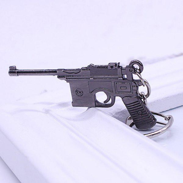 Key Chain 38 Rifle Pistol Hanging Pendant Metal Keyring Online Military Game Toy for Bag Decoration