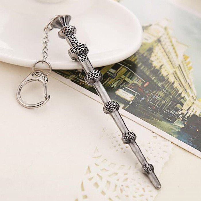 Key Chain Hanging Pendant Magic Wand Shape Keyring Movie Product for Bag Decoration - SILVER/BLACK STYLE 2