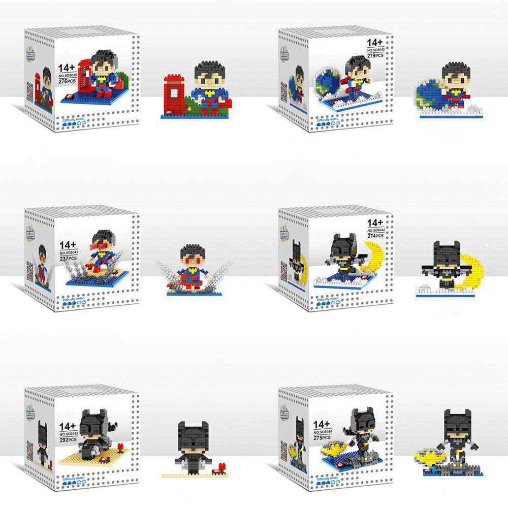Buy 6 Box / Set Hero Style Building Block Educational Movie Product Kid Toy COLORMIX