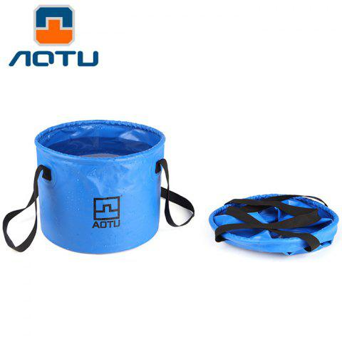 AOTU 12L Foldable Water Storage Bucket for Outdoor Camping Practical Washbasin - BLUE