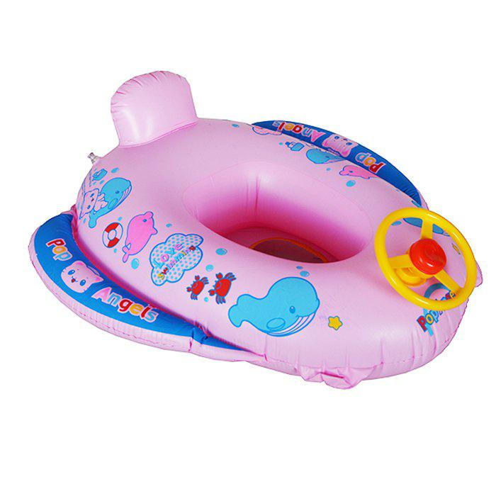 Gigantic Cartoon Pattern Inflatable Swimming Float for Kids Summer Water Games - PINK