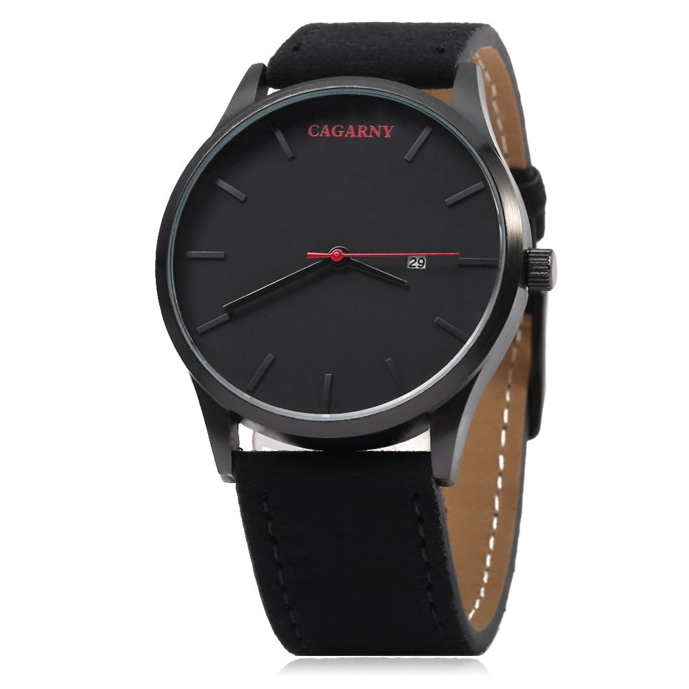CAGARNY 6850 Business Style Male Quartz Watch with Big Dial - BLACK
