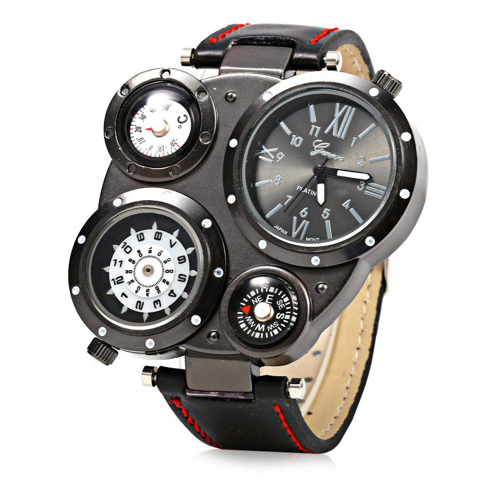 GENEVA 451 Casual Style Male Quartz Watch with Multiple Dials