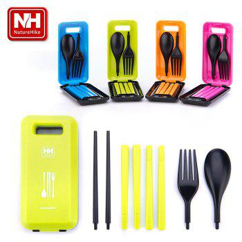 Naturehike - NH Practical Cutlery Set 3 in 1 Spoon + Chopsticks + Fork for Outdoor Camping Business Traveling