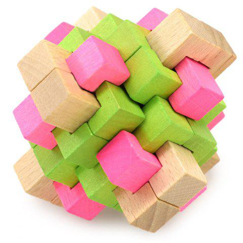 Puzzle Beech Interlock Toy Birthday Present - COLORMIX