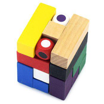 Magic Cube Style Puzzle Educational Wooden Interlock Toy Birthday Gift