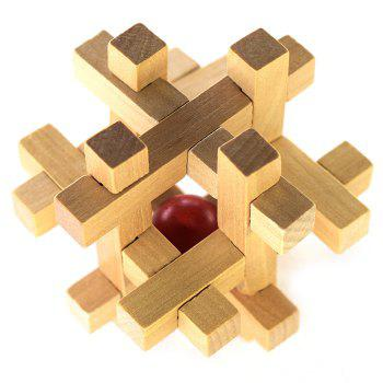 Classic Cage Shape Puzzle Educational Wooden Interlock Toy Birthday Gift - COLORMIX COLORMIX