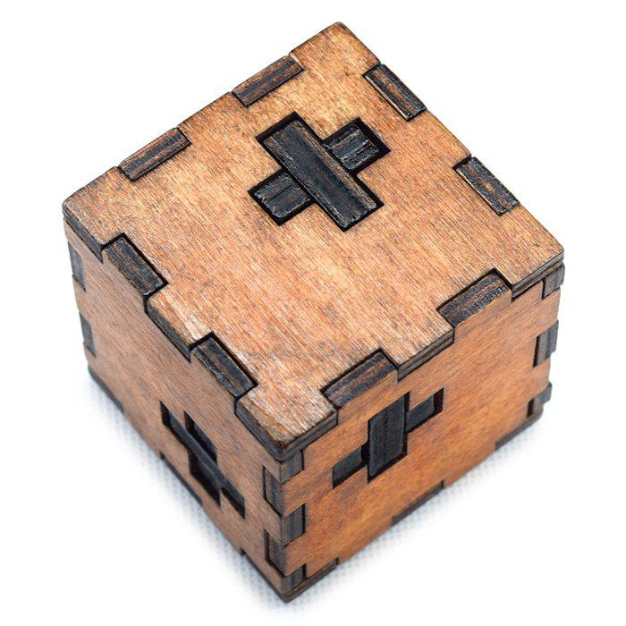 Classic Switzerland Cube Style Puzzle Educational Wooden Interlock Toy Birthday Gift dayan gem vi cube speed puzzle magic cubes educational game toys gift for children kids grownups