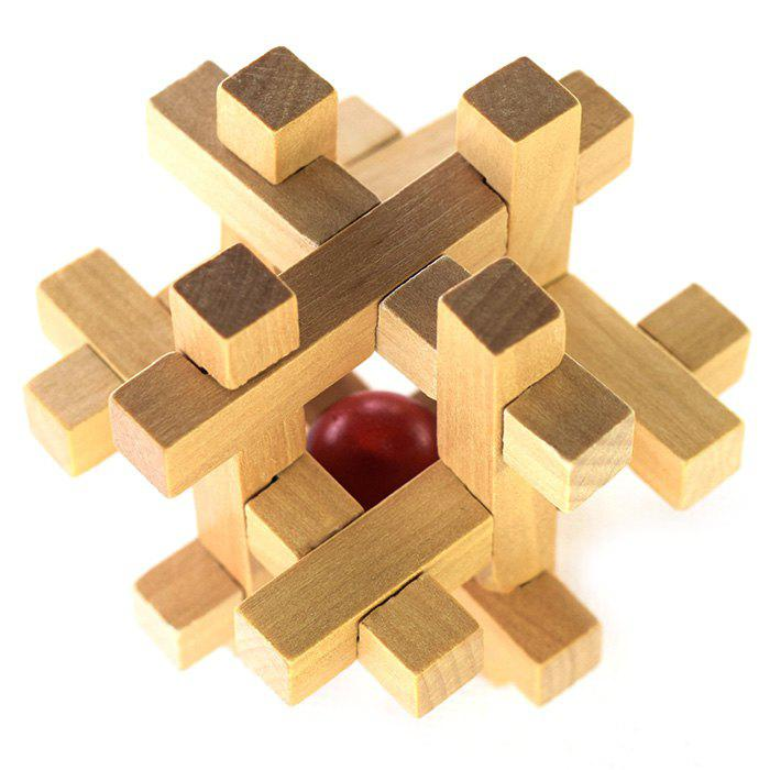 Classic Cage Shape Puzzle Educational Wooden Interlock Toy Birthday Gift - COLORMIX
