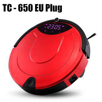 TC - 650 Smart Robotic Vacuum Cleaner Intelligent Automatic IR Avoidance Sensor Remote Control Robot Aspirador
